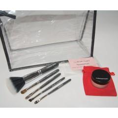 Set -Reisepinsel, Basis+ gratis Handtaschengröße Zauberpuder, Kulturtasche und Brush Guard Hüllen