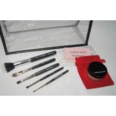 Set Reisepinsel, Erweiterung+ gratis Handtaschengröße Zauberpuder, Kulturtasche+10  Brush Guard Hüllen