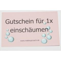 """10 Gutschein Karten """"Einschäumen"""""""