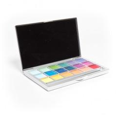 Lidschatten 18 Farben - matt, farbenfroh -  www.michaela-conrads.de