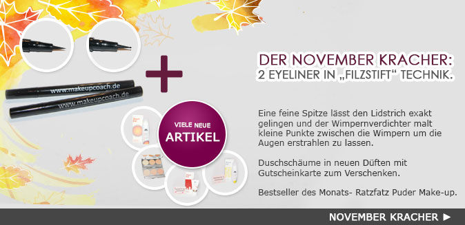 Novemberkracher bei makeupcoach